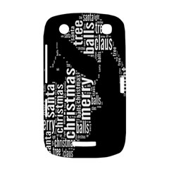 Funny Merry Christmas Santa, Typography, Black and White BlackBerry Curve 9380