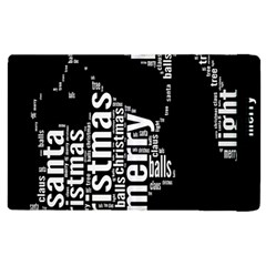 Funny Merry Christmas Santa, Typography, Black and White Apple iPad 2 Flip Case