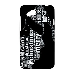 Funny Merry Christmas Santa, Typography, Black and White HTC Desire VC (T328D) Hardshell Case