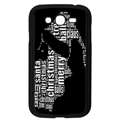 Funny Merry Christmas Santa, Typography, Black and White Samsung Galaxy Grand DUOS I9082 Case (Black)