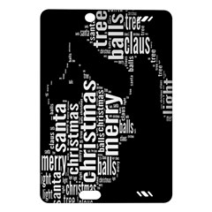 Funny Merry Christmas Santa, Typography, Black and White Amazon Kindle Fire HD (2013) Hardshell Case