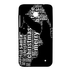 Funny Merry Christmas Santa, Typography, Black and White Nokia Lumia 630