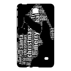 Funny Merry Christmas Santa, Typography, Black and White Samsung Galaxy Tab 4 (7 ) Hardshell Case