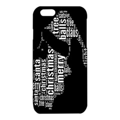 Funny Merry Christmas Santa, Typography, Black and White iPhone 6/6S TPU Case