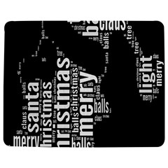 Funny Merry Christmas Santa, Typography, Black And White Jigsaw Puzzle Photo Stand (rectangular)