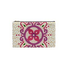 Hindu Flower Ornament Background Cosmetic Bag (Small)