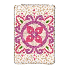 Hindu Flower Ornament Background Apple iPad Mini Hardshell Case (Compatible with Smart Cover)