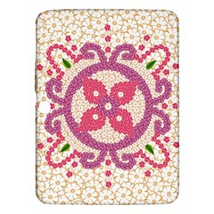 Hindu Flower Ornament Background Samsung Galaxy Tab 3 (10.1 ) P5200 Hardshell Case