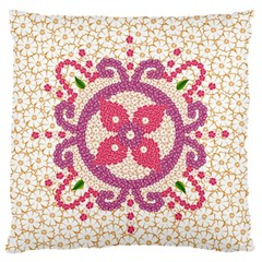 Hindu Flower Ornament Background Standard Flano Cushion Case (One Side)