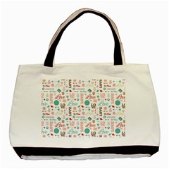 Lovely Valentine s Day Pattern Basic Tote Bag
