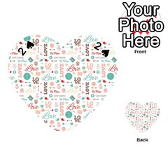 Lovely Valentine s Day Pattern Playing Cards 54 (heart)