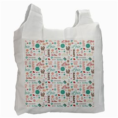 Lovely Valentine s Day Pattern Recycle Bag (one Side)