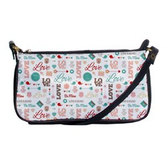 Lovely Valentine s Day Pattern Shoulder Clutch Bags