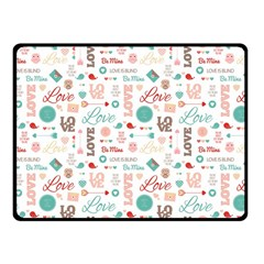Lovely Valentine s Day Pattern Fleece Blanket (Small)