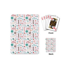 Lovely Valentine s Day Pattern Playing Cards (Mini)