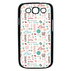 Lovely Valentine s Day Pattern Samsung Galaxy S III Case (Black)
