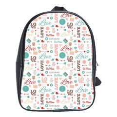 Lovely Valentine s Day Pattern School Bags (xl)