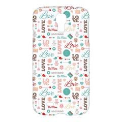 Lovely Valentine s Day Pattern Samsung Galaxy S4 I9500/I9505 Hardshell Case