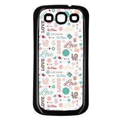 Lovely Valentine s Day Pattern Samsung Galaxy S3 Back Case (Black)