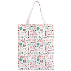 Lovely Valentine s Day Pattern Classic Light Tote Bag