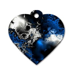 Amazing Fractal 26 Dog Tag Heart (Two Sides)