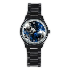 Amazing Fractal 26 Stainless Steel Round Watch
