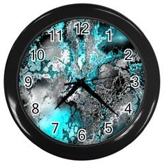 Fractal 30 Wall Clocks (Black)