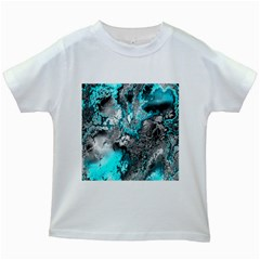 Fractal 30 Kids White T-Shirts