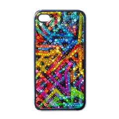 Color Play in Bubbles Apple iPhone 4 Case (Black)