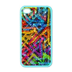 Color Play in Bubbles Apple iPhone 4 Case (Color)