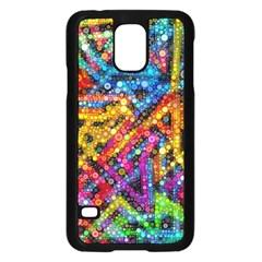 Color Play in Bubbles Samsung Galaxy S5 Case (Black)