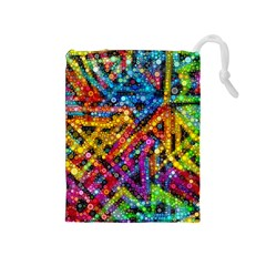 Color Play in Bubbles Drawstring Pouches (Medium)