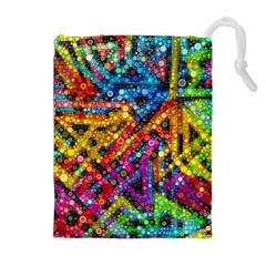 Color Play in Bubbles Drawstring Pouches (Extra Large)