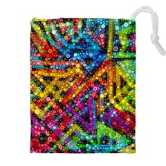 Color Play In Bubbles Drawstring Pouches (xxl)