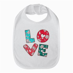 Vintage Love Lettering With Ornament  Bib