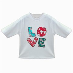 Vintage Love Lettering With Ornament  Infant/Toddler T-Shirts