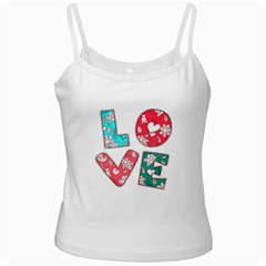 Vintage Love Lettering With Ornament  Ladies Camisoles
