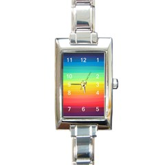 Sweet Colored Stripes Background Rectangle Italian Charm Watch