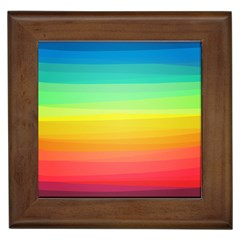 Sweet Colored Stripes Background Framed Tiles
