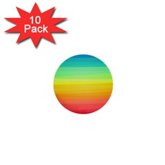 Sweet Colored Stripes Background 1  Mini Buttons (10 pack)
