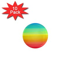 Sweet Colored Stripes Background 1  Mini Magnet (10 pack)