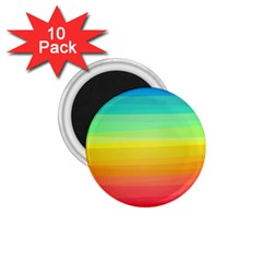 Sweet Colored Stripes Background 1.75  Magnets (10 pack)