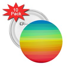Sweet Colored Stripes Background 2.25  Buttons (10 pack)