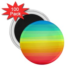 Sweet Colored Stripes Background 2.25  Magnets (100 pack)
