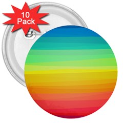 Sweet Colored Stripes Background 3  Buttons (10 pack)