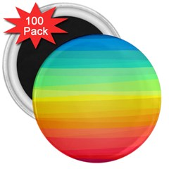 Sweet Colored Stripes Background 3  Magnets (100 pack)