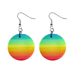 Sweet Colored Stripes Background Mini Button Earrings