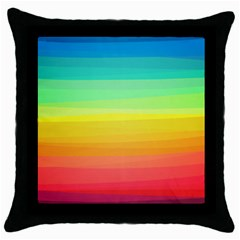 Sweet Colored Stripes Background Throw Pillow Case (Black)