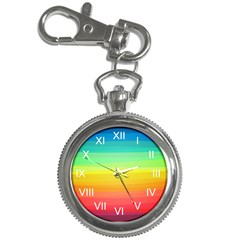 Sweet Colored Stripes Background Key Chain Watches