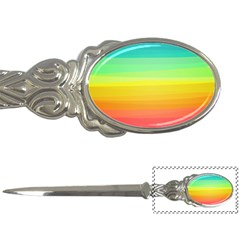Sweet Colored Stripes Background Letter Openers